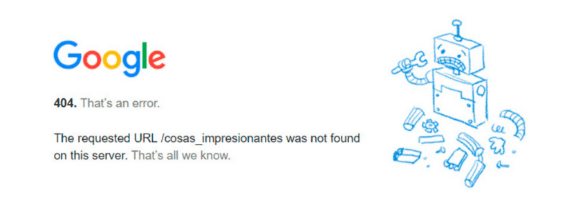 Error 404 SEO Viña del marketing