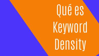 Qué es Keyword density