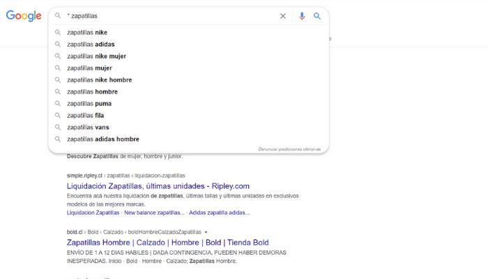 Google Footprints Asterisco