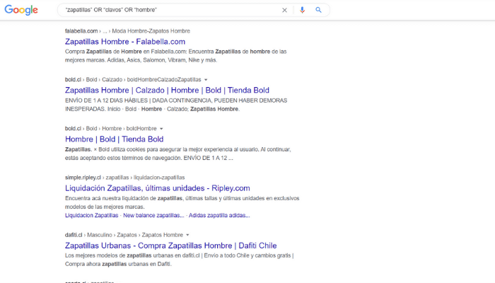 Google Hacking OR