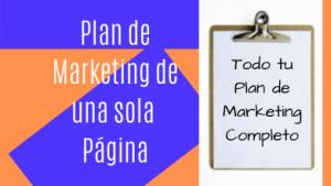 Plan de Marketing de una sola página